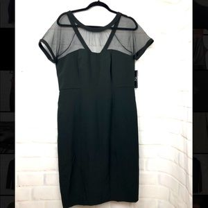 New York and company black mesh sheath dress